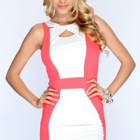 Hot Pink White Two Tone Sexy Party Dress @ Amiclubwear sexy dresses,sexy dress,prom dress,summer dress,spring dress,prom gowns,teens dresses,sexy party wear,women's cocktail dresses,ball dresses,sun dresses,trendy dresses,sweater dresses,teen clothing,eve