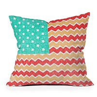 Nick Nelson Zig Zag Flag Throw Pillow