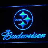b285 Pittsburgh Steelers Budweiser NR LED Neon Sign with On/Off Switch 20+ Colors 5 Sizes to choose