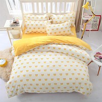 Simple fruit style - king queen size bed linen set bedding set Cotton bedclothes duvet cover bed sheet pillow case-comforte set