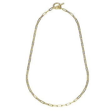 Toggle Paperclip Link Necklace