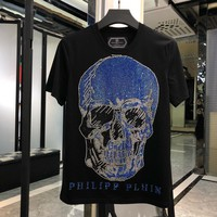 Philipp Plein Men Fashion Casual Print Sport T-Shirt Top Tee