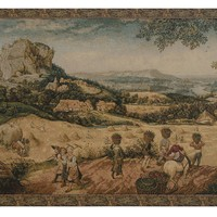 Collecting Hay Tapestry Wall Art Hanging