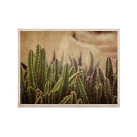 "Jillian Audrey ""Green Grass Cactus"" Green Brown KESS Naturals Canvas (Frame not Included)"