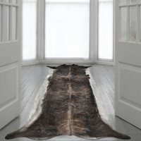 Superlong Stretched Cowhide Rug (Small)