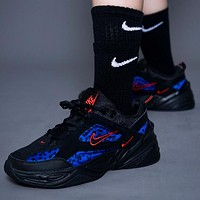 Nike M2K Tekno New fashion hook couple running shoes Black