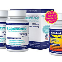 Lipozene Weight Loss Pills 2x30 Count Bottles with FREE 30 count MetaboUp Plus