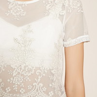 Contemporary Floral Lace Top | Forever 21 - 2000152271