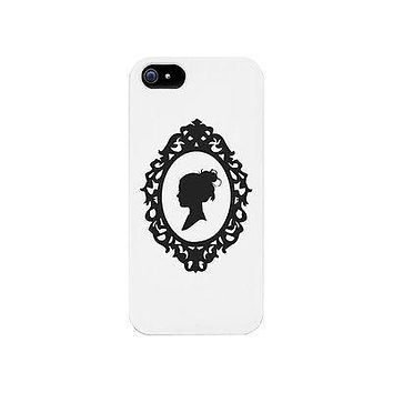 Lady Silhouette Frame Funny Phone Case Cute Graphic Design Phone Cover