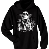 Wolf Howl Hoodie - Eyes of the Night - soft grunge clothing pastel goth gothic lolita wolf hoodie werewolf moon sweatshirt