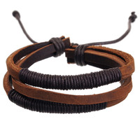 MM Leather Bracelet- Madison
