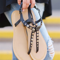 To The Moon & Back Sandals - Black