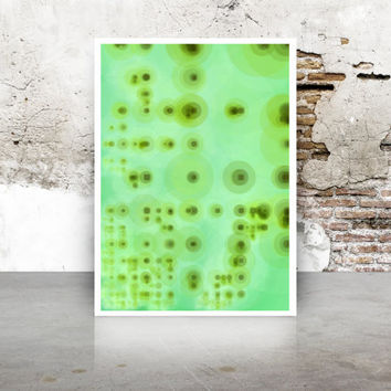 Abstract Generative Art Dividing Bubbles and Boxes growthBoxes_9f, Limited Edition Giclee 8x10, geeky wall art.