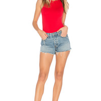 Free People She's A Babe Bodysuit in Bright Red   REVOLVE