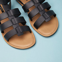 Caged Ankle-Strap Sandal