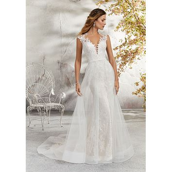 Blu by Morilee 5689 Lenore Lace and Tulle Wedding Dress