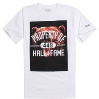 Hall of Fame Grizzly Property Of T-Shirt - Mens Tee - White