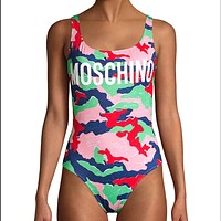 MOHINO Women printed One Piece Swimsuit Bikini