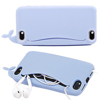 Big Mouth Cartoon Whale Case For iPhone 5 5S 6 6S *FREE SHIPPING*
