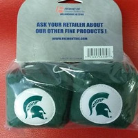 """NCAA Michigan State Spartans 3""""  Fuzzy  Dice"""