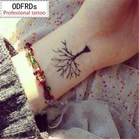Tattoo Sticker waterproof temporary tree grows up