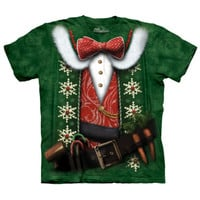 ELF COSTUME The Mountain Funny Christmas Santa Little Helper T-Shirt S-3XL NEW