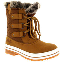 Womens Snow Boot Nylon Short Winter Snow Fur Rain Warm Waterproof Boots UK 3-9