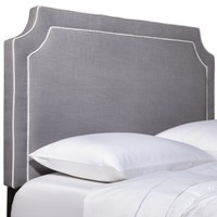 Clip Corner Headboard with Piping