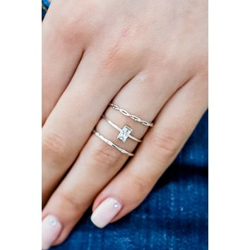 Perfect Touch Ring Set - Silver