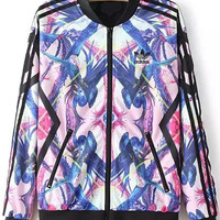 Abstract Print Long Sleeve Jacket
