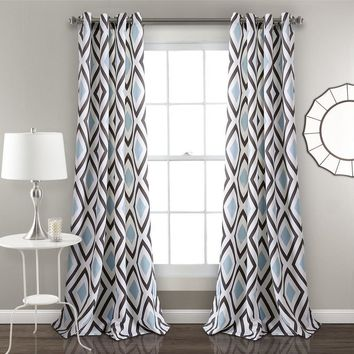 Kelsey Diamond Geo Boho Window Curtains