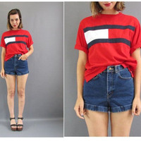 Summer Women's Fashion Print Patchwork Short Sleeve Casual T-shirts Magnet [4956106308]