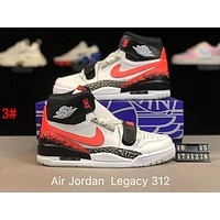 Bunchsun Nike Air Jordan Legacy 312 x Just Don Trending Men Casual High Tops Running Sport Shoes Basketball Sneakers 3#