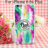 Pink Hard White Cover Case for iPhone