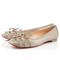 MOSTOLA FLAT PATENT/SUEDE , Patent leather, Stone, Women Shoes