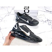 NIKE AIR MAX 720 2019 new high quality men's full palm air cushion sports shoes Black