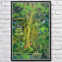 Framed Secret of Mana sanctuary tree video game poster 24x36