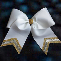 Triple Sparkle Softball Bow
