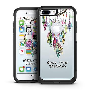 Never Stop Dreaming Watercolor Catcher - iPhone 7 or 7 Plus Commuter Case Skin Kit