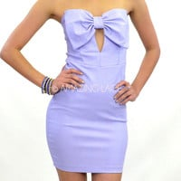 RESTOCKED Lavender Fields Big Bow Top Purple Strapless Dress