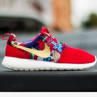 NIKE Women Men Running Sport Casual Shoes Sneakers Red print