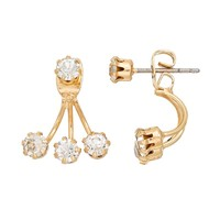 LC Lauren Conrad Front-Back Drop Earrings (Gold Tone)
