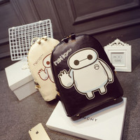 Casual New Emoji Backpack Style Leather School Bags