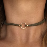 Ring of Fire Choker in Olive