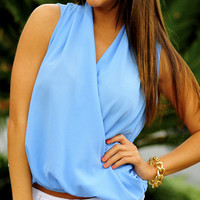 Once Or Twice Blouse: Periwinkle | Hope's