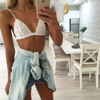 Lace Spaghetti Strap Tops Summer Hot Sale Vest Wrap Underwear [9694084943]