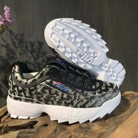 DCCK FILA Women/Men Fashion casual Sneakers Shoes