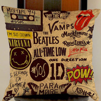 5 seconds of summer one direction pow brotherhood pillow case one side or two side by mugxagrip