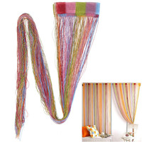 New Mixed Colors Line String Curtains Window Curtain for a shop window display window curtain living room rideaux