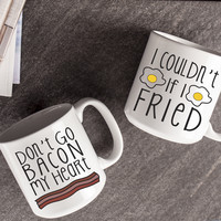 Bacon and Eggs Large Coffee Mugs (Set of 2) | Overstock.com Shopping - The Best Deals on Mugs